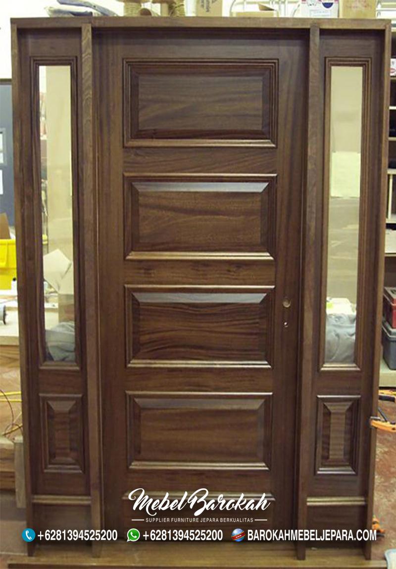 Pintu Kayu Minimalis Wallnut Jati Terpopuler MB-851