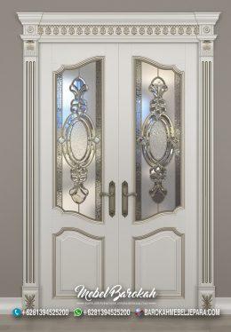 Kusen Pintu Eropa Duco Putih Kaca Patri Berkualitas MB-853