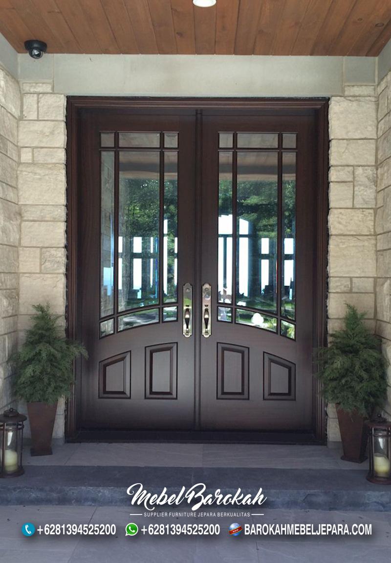 Pintu Rumah Minimalis Kaca Reyben Stylist Berkualitas MB-858