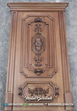 Pintu Ukir Terbaik Klasik Natural Kayu Solid Asli Jepara MB-863