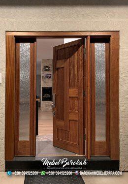 Set Kusen Pintu Jendela Samping Kayu Jati Solid Natural Termurah MB-873