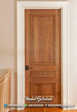 Jual Set Kusen Pintu Minimalis Kayu Jati Simple Berkualitas Mewah Warna Natural Harga Murah MB-878
