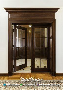 Pintu Kaca Minimalis Bown Wallnut Berkualitas MB-793