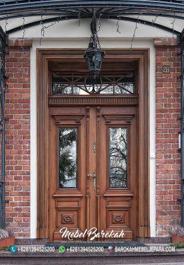 Pintu Rumah Model Eropa Klasik Natural MB-797