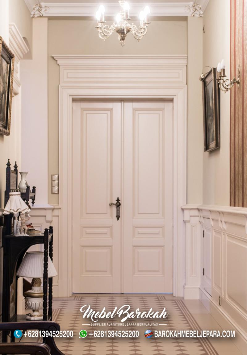 Jual Pintu Kupu Tarung Putih Bahan Kayu Mahoni MB-816
