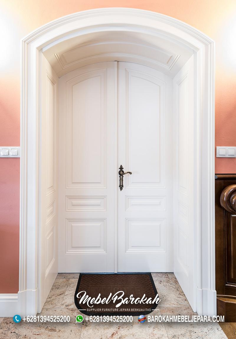 Pintu Utama Rumah Minimalis Lengkung Elegan MB-818