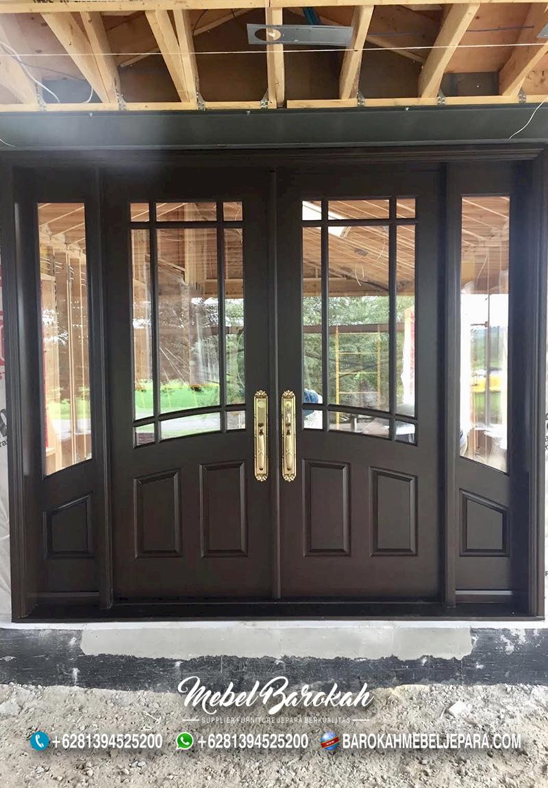 Set Kusen Daun Pintu Minimalis Gabung Jendela MB-822