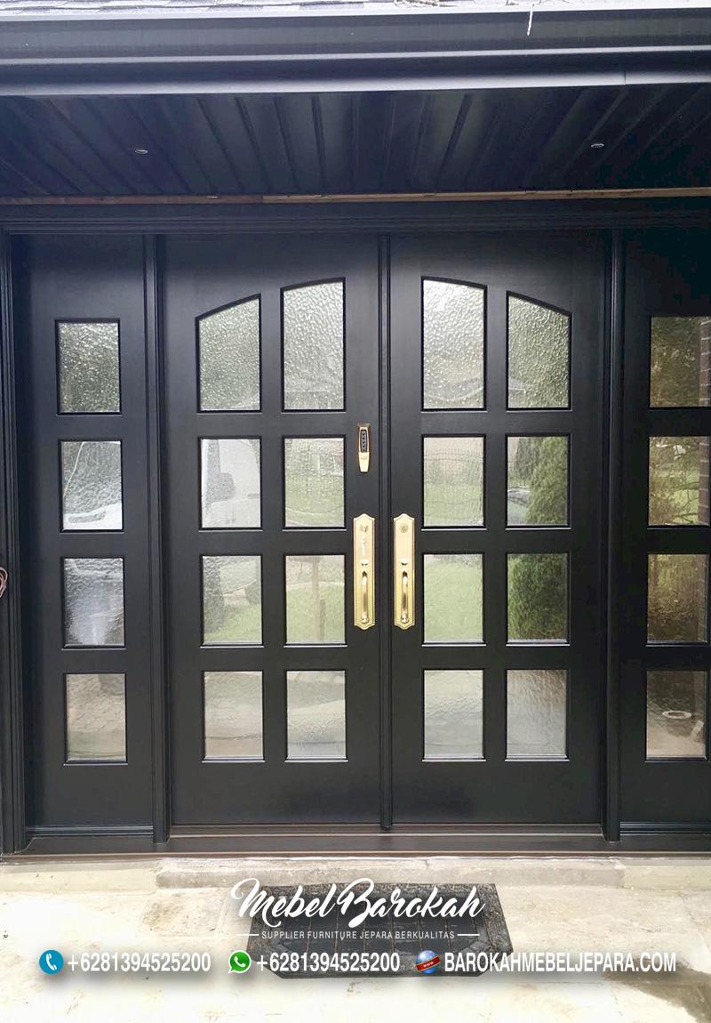 Pintu Minimalis Bergaya Eropa Warna Gelap MB-826