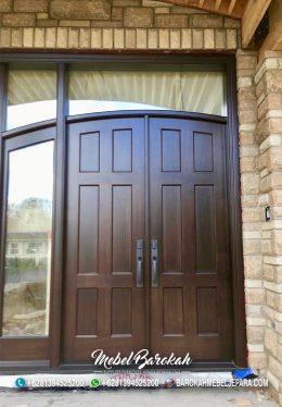 Pintu Rumah Minimalis Kayu Jati TPK Blora MB-827