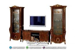 Rak Kaca TV Antik Model Lama Bahan Kayu Jati MB-976