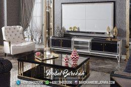 Persian Artistic Backdrop TV Queen Silver Metal MB-926