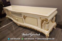 Promo Murah Meja Cabinet TV Warna Putih Emas Colok MB-928